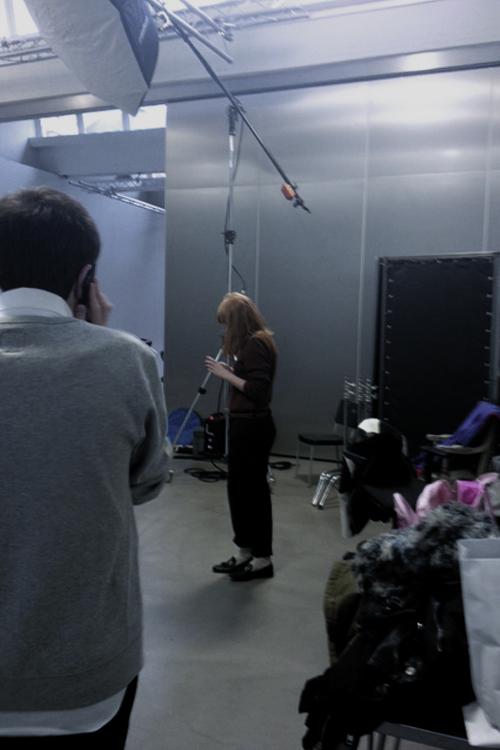 la foto backstage